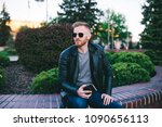 stylish businessman with a... | Shutterstock . vector #1090656113