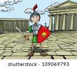cartoon roman legionary...   Shutterstock .eps vector #109069793