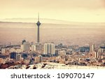 tehran skyline with panoramic... | Shutterstock . vector #109070147