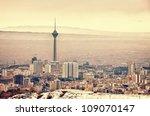 tehran skyline with panoramic...   Shutterstock . vector #109070147