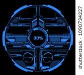 hud futuristic blue elements... | Shutterstock .eps vector #1090734227