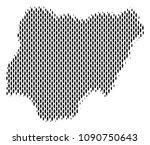 demography nigeria map people.... | Shutterstock .eps vector #1090750643