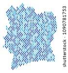 population ivory coast map.... | Shutterstock .eps vector #1090781753