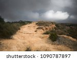 road ascending to the top of...   Shutterstock . vector #1090787897