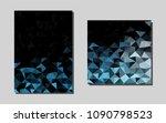 dark bluevector brochure for ui ...