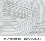 black lines made with pencil on ... | Shutterstock . vector #1090800167