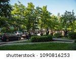 rostock  germany   may 14  2018 ... | Shutterstock . vector #1090816253