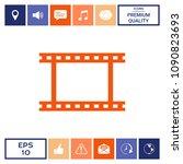 camera roll  photographic film  ... | Shutterstock .eps vector #1090823693