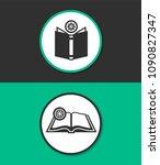 open book vector icon. | Shutterstock .eps vector #1090827347