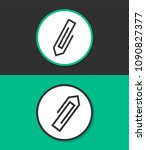 paperclip vector icon. | Shutterstock .eps vector #1090827377