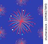 fireworks night sky seamless... | Shutterstock .eps vector #1090827893