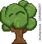 tree for video retro game pixel ... | Shutterstock .eps vector #1090850297