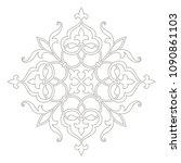 circular floral pattern in...   Shutterstock .eps vector #1090861103