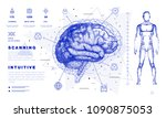 dna analysis on medical systems ...   Shutterstock .eps vector #1090875053