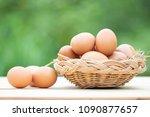 good quality chicken eggs in... | Shutterstock . vector #1090877657