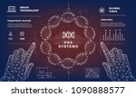 dna analysis on medical systems ...   Shutterstock .eps vector #1090888577