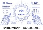 dna analysis on medical systems ...   Shutterstock .eps vector #1090888583