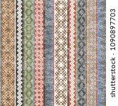vintage ethnic geometric motifs ... | Shutterstock . vector #1090897703