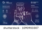 online shop technology with use ...   Shutterstock .eps vector #1090903307