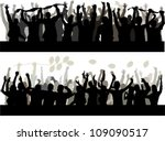 happy people silhouette | Shutterstock .eps vector #109090517