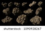 asteroids isolated on black...   Shutterstock . vector #1090928267