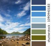 jordan pond  acadia national...   Shutterstock . vector #1090940183