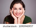 close up portrait of attractive ... | Shutterstock . vector #1090940957