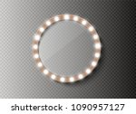 makeup mirror isolated with... | Shutterstock .eps vector #1090957127