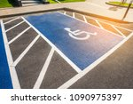 image of blue new handicapped... | Shutterstock . vector #1090975397