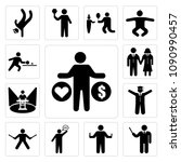 set of 13 simple editable icons ... | Shutterstock .eps vector #1090990457