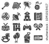 vector toys icon collection set ... | Shutterstock .eps vector #1091015417
