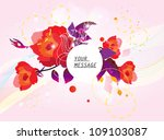roses floral background | Shutterstock .eps vector #109103087