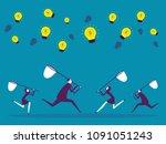 business teamwork. vector... | Shutterstock .eps vector #1091051243