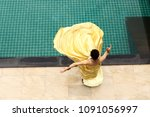 mix race tanned skin woman in... | Shutterstock . vector #1091056997