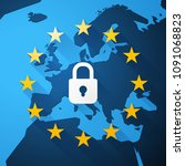 gdpr  general data protection... | Shutterstock .eps vector #1091068823