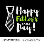 happy father's day lettering... | Shutterstock .eps vector #1091084747