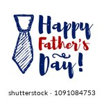 happy father's day lettering... | Shutterstock . vector #1091084753