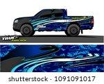 truck livery wrap design...   Shutterstock .eps vector #1091091017