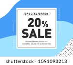 20  off special offer fashion... | Shutterstock .eps vector #1091093213