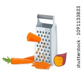 grater with carrot and sweet...   Shutterstock .eps vector #1091133833