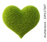 Green Grass Heart. Isolated On...
