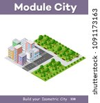 modern 3d city isometric three... | Shutterstock .eps vector #1091173163