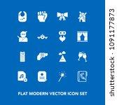 modern  simple vector icon set... | Shutterstock .eps vector #1091177873