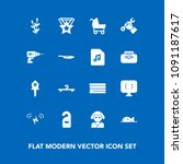 modern  simple vector icon set... | Shutterstock .eps vector #1091187617