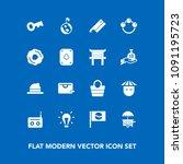 modern  simple vector icon set... | Shutterstock .eps vector #1091195723