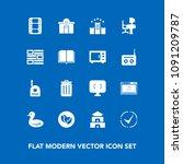 modern  simple vector icon set...   Shutterstock .eps vector #1091209787