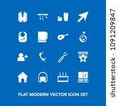 modern  simple vector icon set... | Shutterstock .eps vector #1091209847