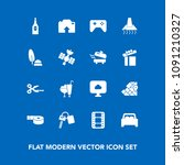 modern  simple vector icon set... | Shutterstock .eps vector #1091210327