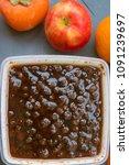 fruit preserves in a food...   Shutterstock . vector #1091239697