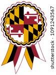 maryland award ribbon vector in ... | Shutterstock .eps vector #1091243567